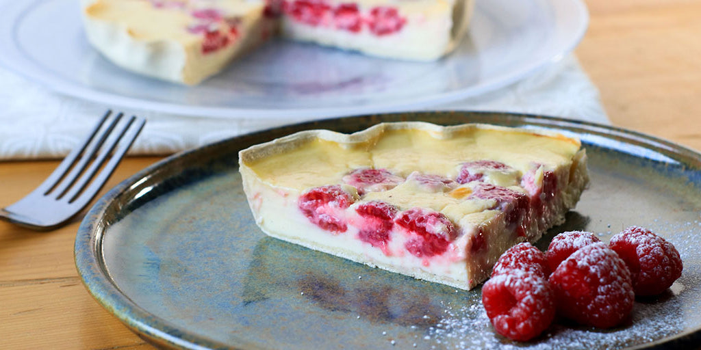 Low-Calorie Raspberry & Custard Tart.