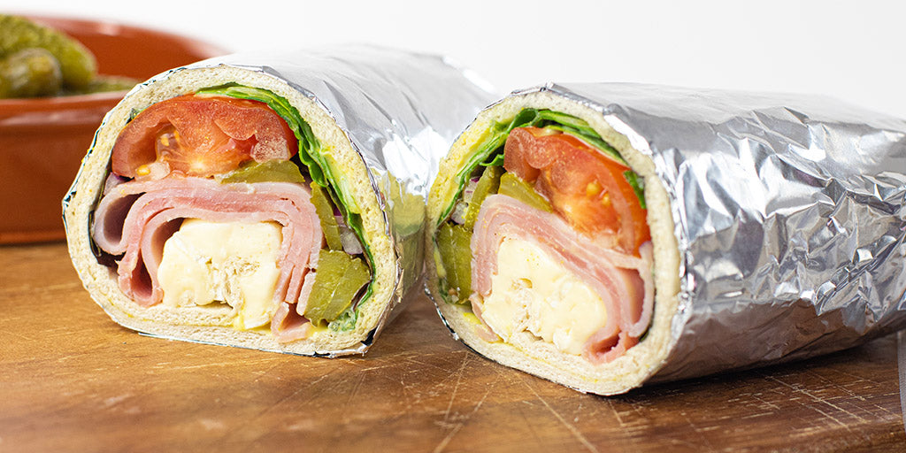 Low-Cal Ham & Brie Wrap with Mustard Mayo