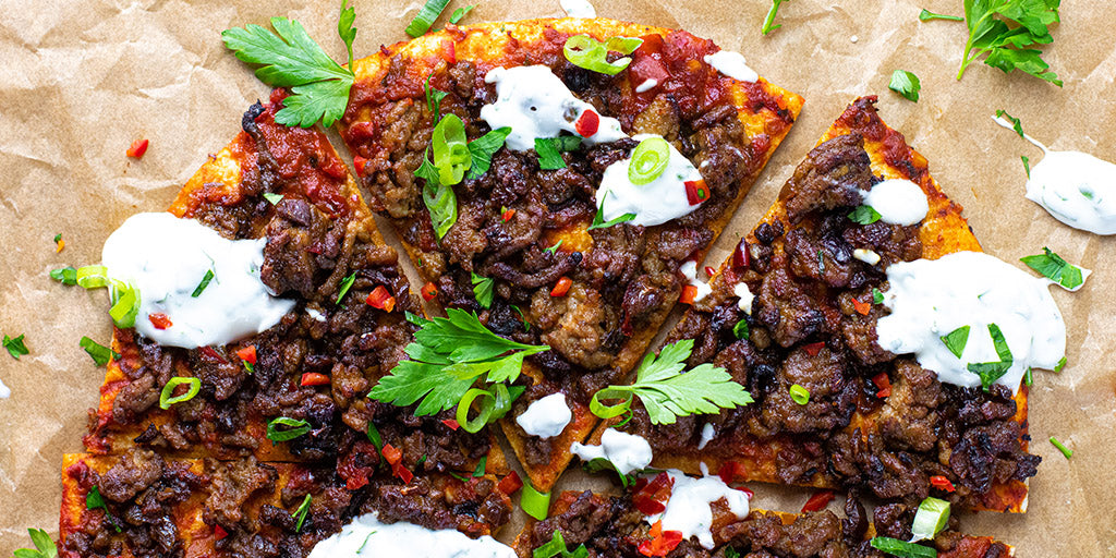 Low-Carb Moroccan Lamb Flatbread