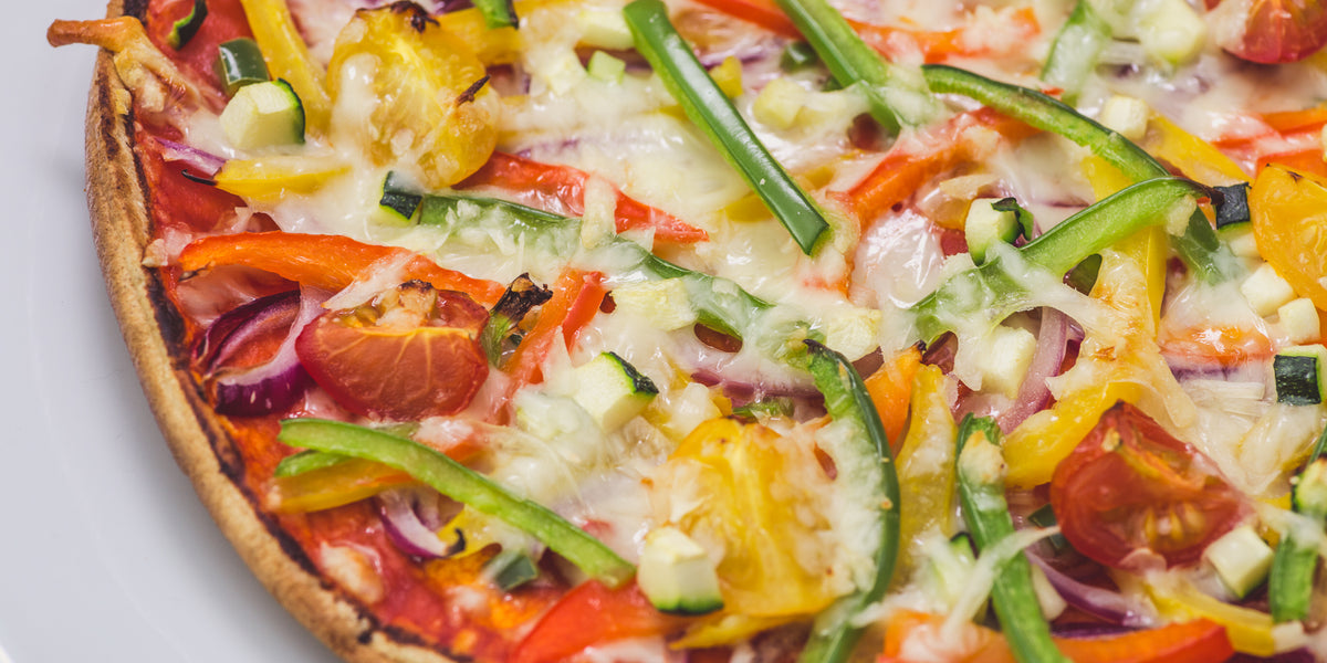 Healthy Veggie Pepper Pizza
