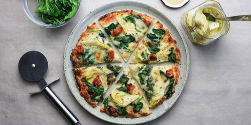 High-Fibre Artichoke & Spinach Pizza