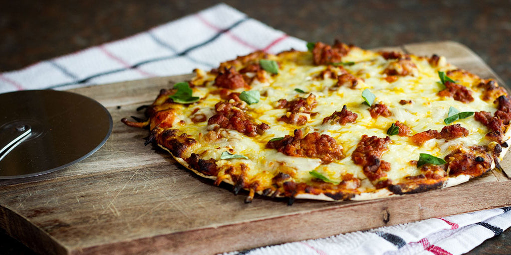 Low-Cal Bolognese Pizza