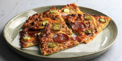 Low-Carb Chorizo & Mixed Veg Pizza
