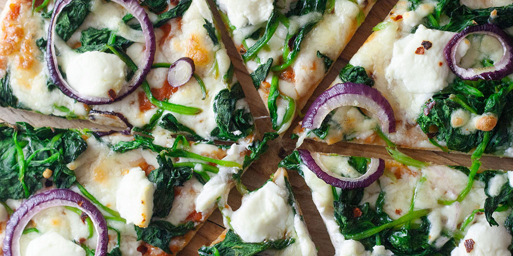 Padana Pizza (Spinach, Goats Cheese & Onion)