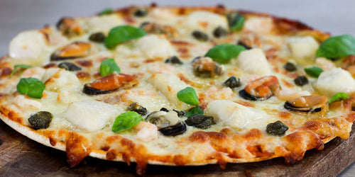 Seafood & Caper Berry Pizza