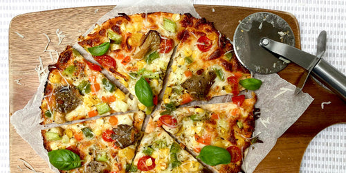 Low-Calorie 7 Vegetable  Pizza