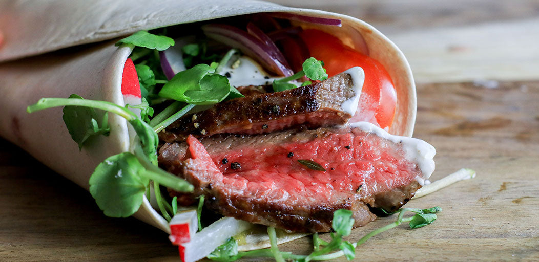 Low-Cal Steak & Salad Wrap