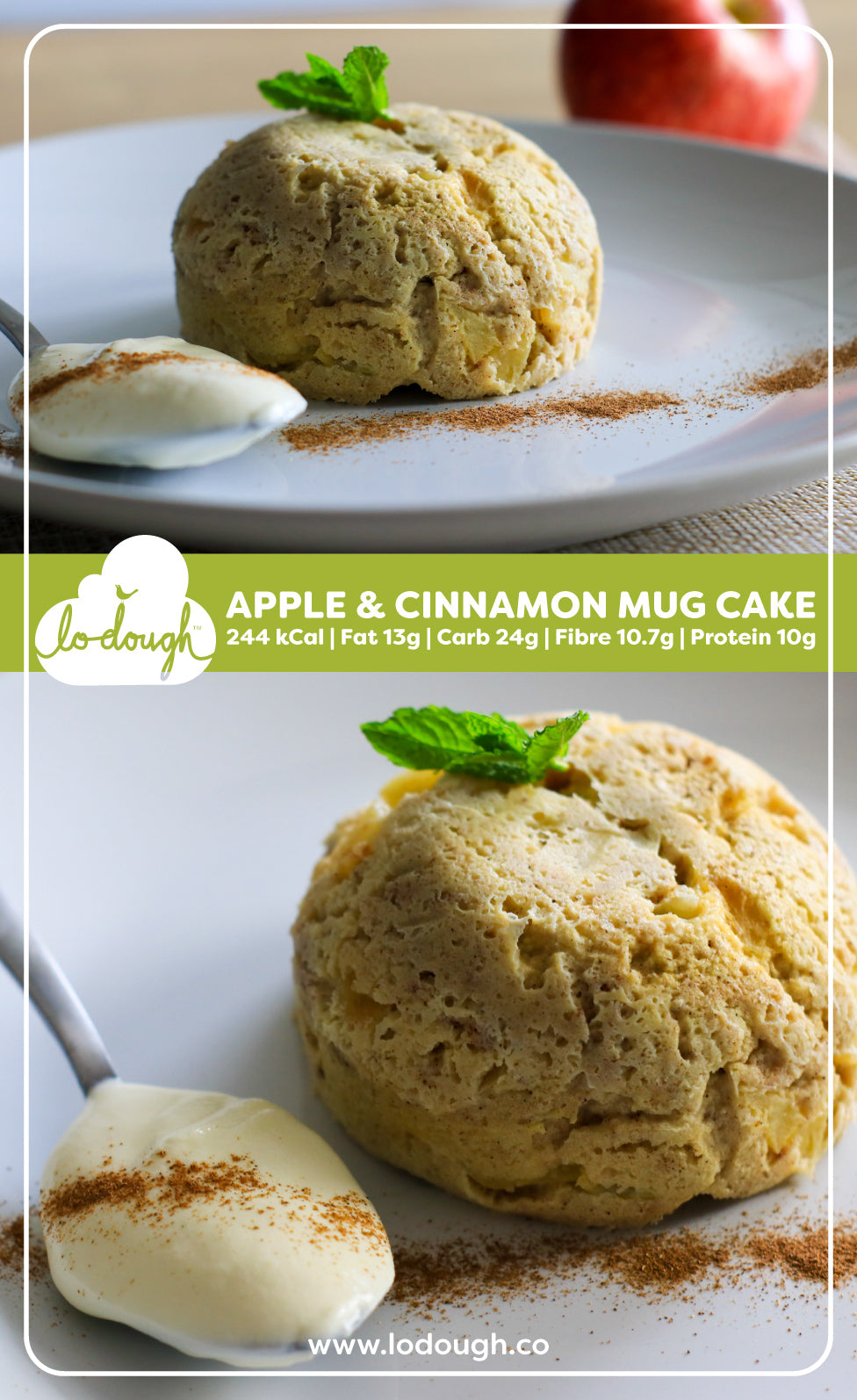 Apple and Cinnamon Mug Cakes