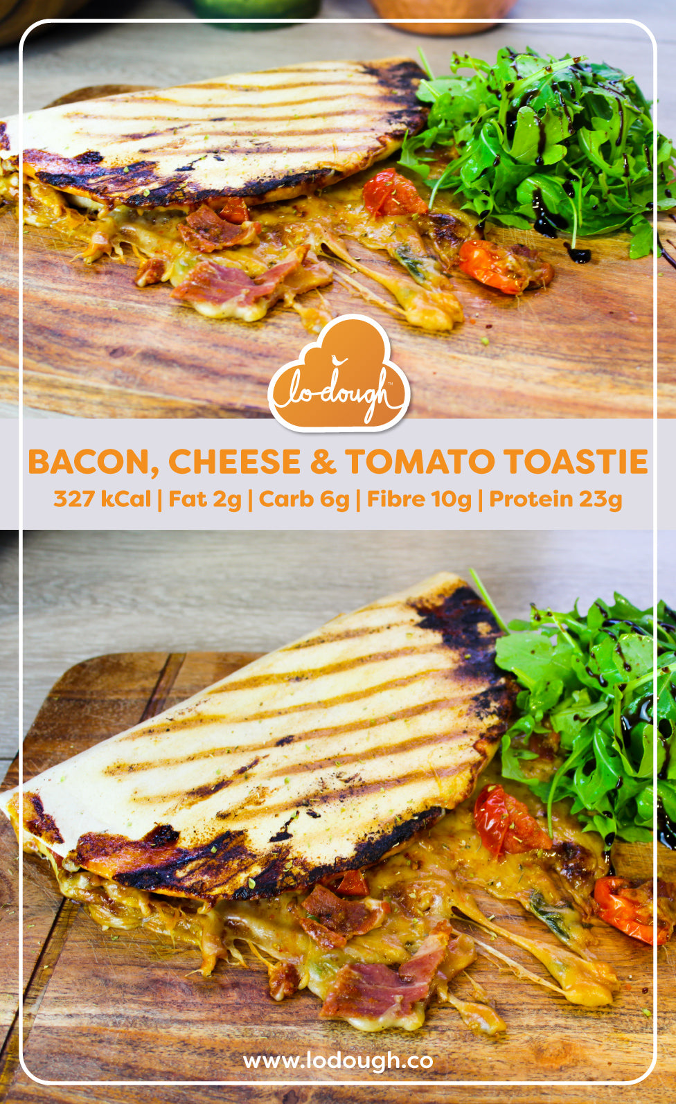 Bacon Cheese and Tomato Toastie