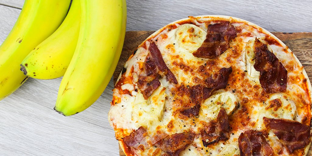Unusual Banana & Bacon Pizza