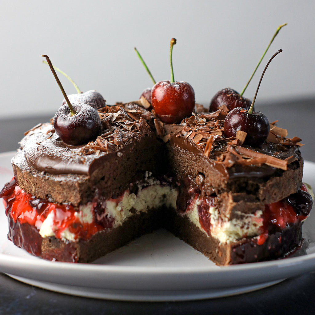 Low carb black forest gateau