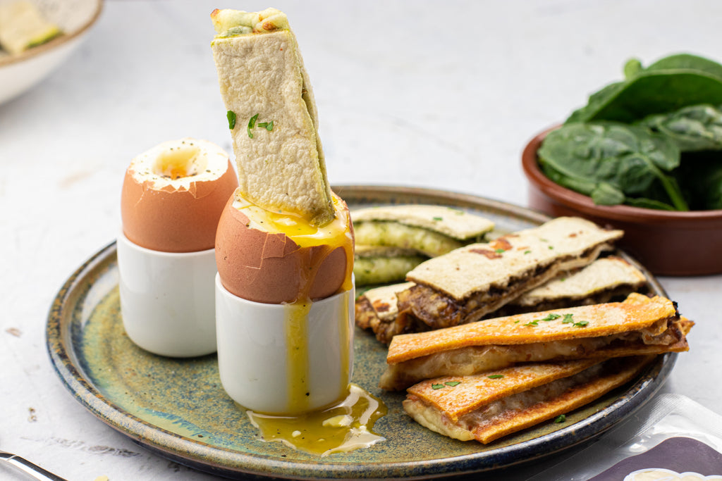 Low carb egg and soldiers