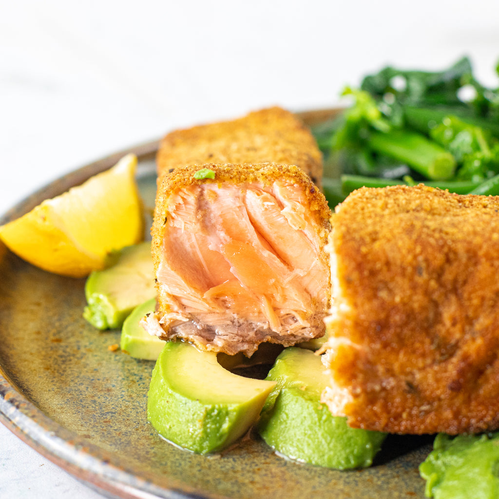 Low carb breaded salmon
