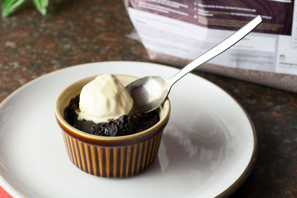 low calorie brownie pudding