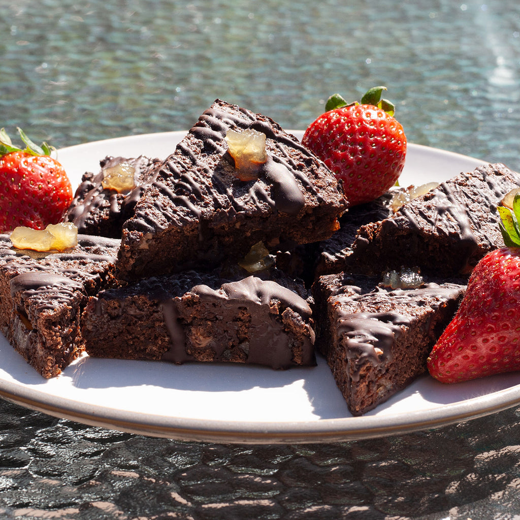 Low calorie ginger brownies