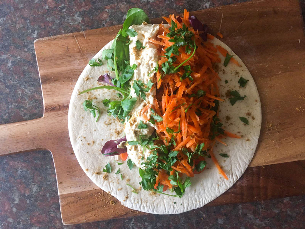 Low-calorie Hummous Wrap