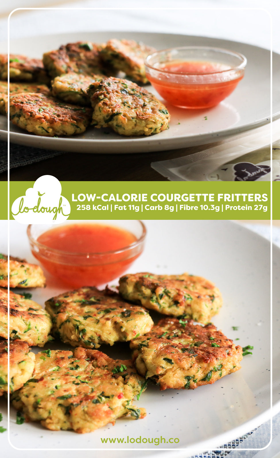 Low-Cal Courgette Fritters