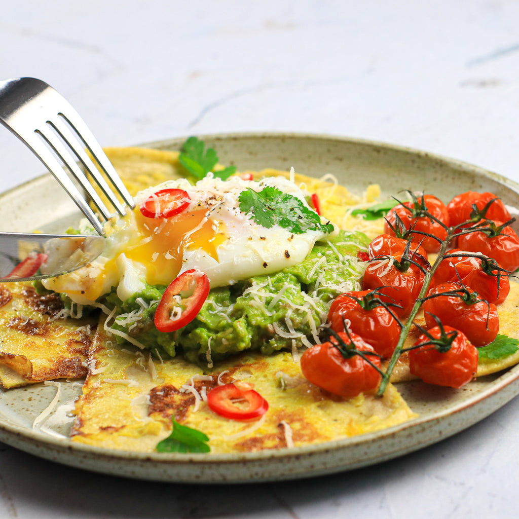 Low carb avocado french toast