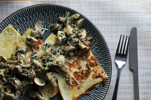 Low carb mushroom french toast
