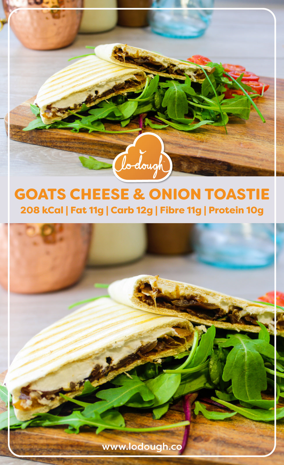 Goats Cheese and Onion Toastie