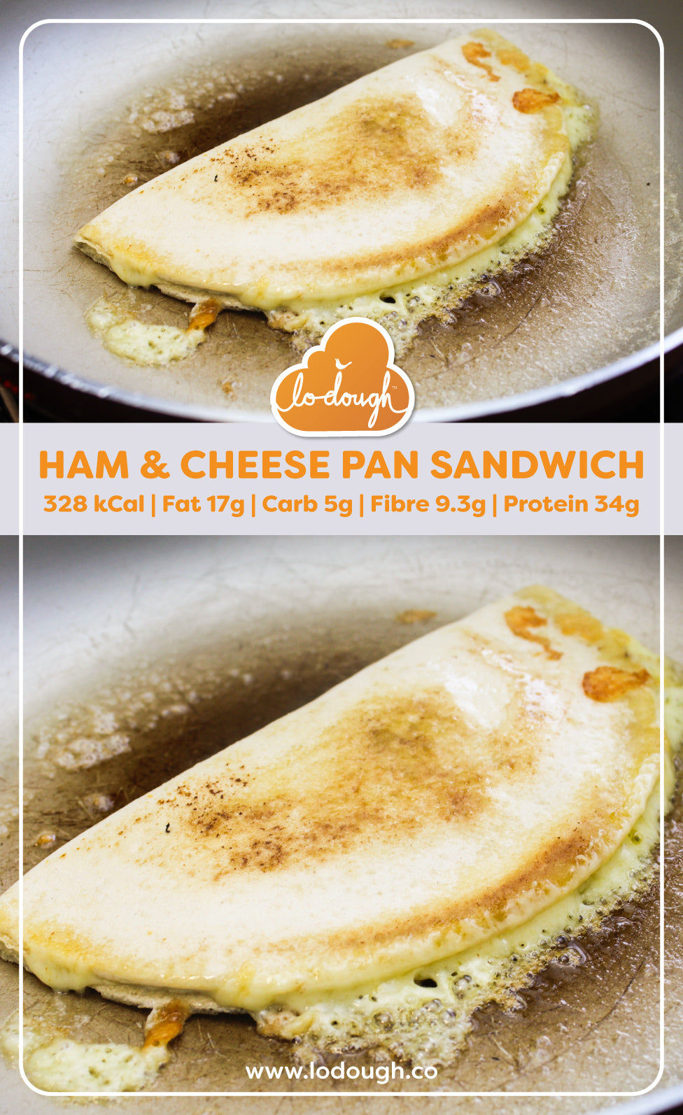 Ham and Cheese Pan Sandwich