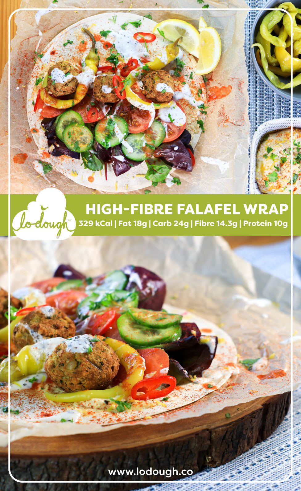 High Fibre Falafel Wrap