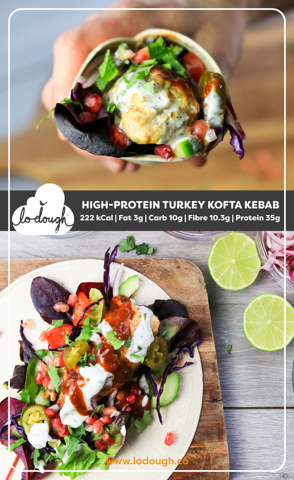 High-Protein Turkey Kofta Kebab
