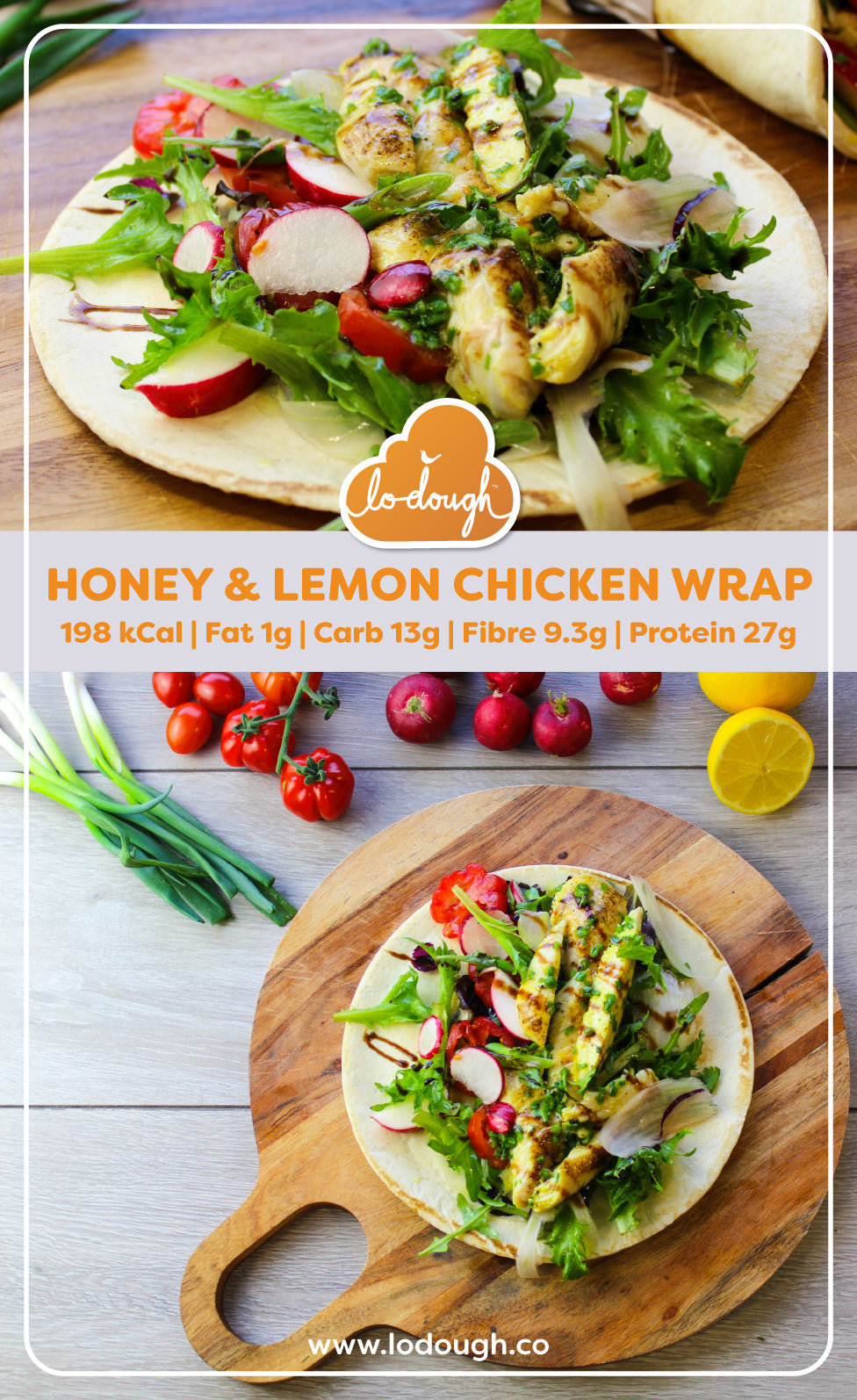 Honey and Lemon Chicken Wrap