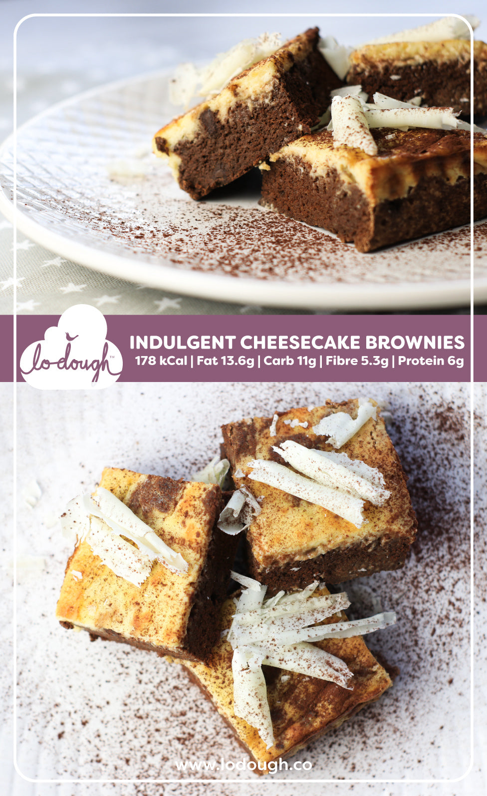 Low-Calorie Cheesecake Brownies