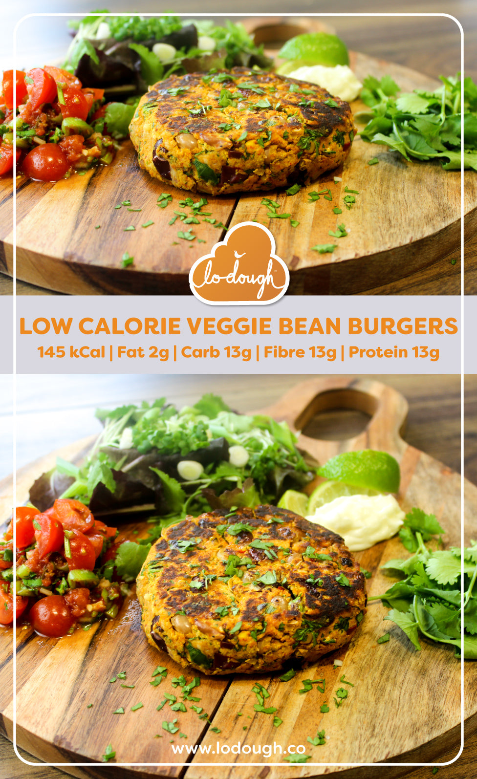 Low Calorie Veggie Bean Burger