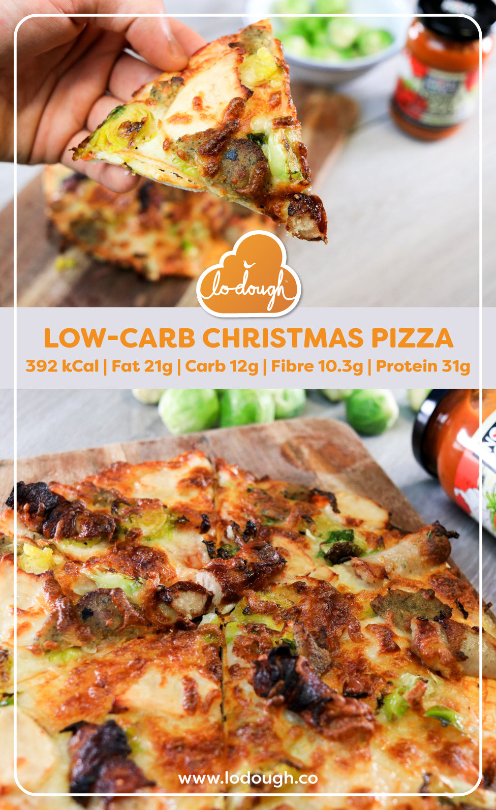 Low Carb Christmas Pizza