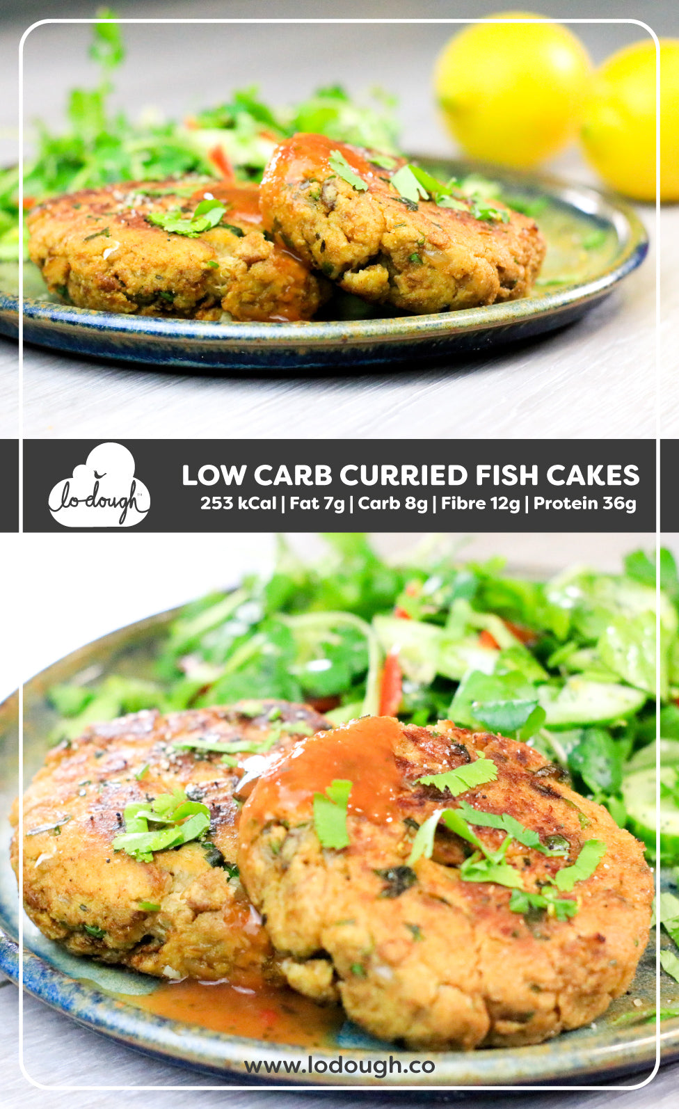 Low Carb Curried Fish Cakes
