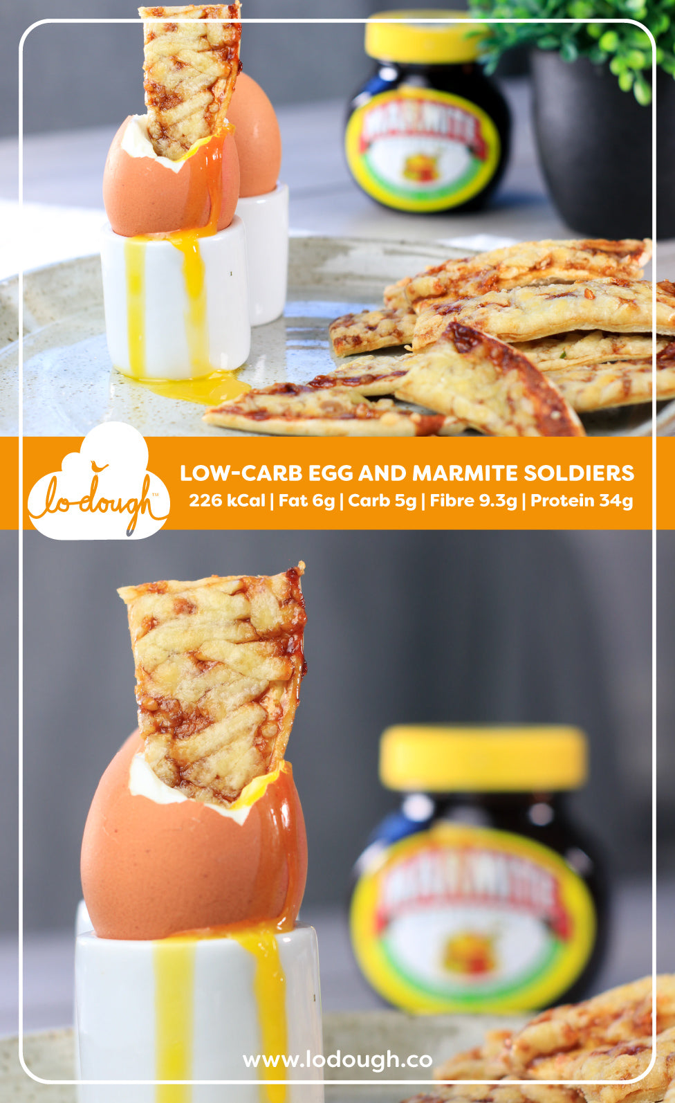 Low-Carb Egg And Marmite Soldiers
