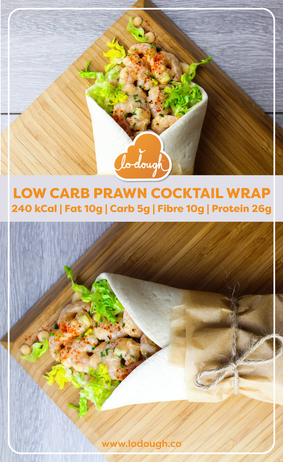 Low Carb Prawn Cocktail Wrap