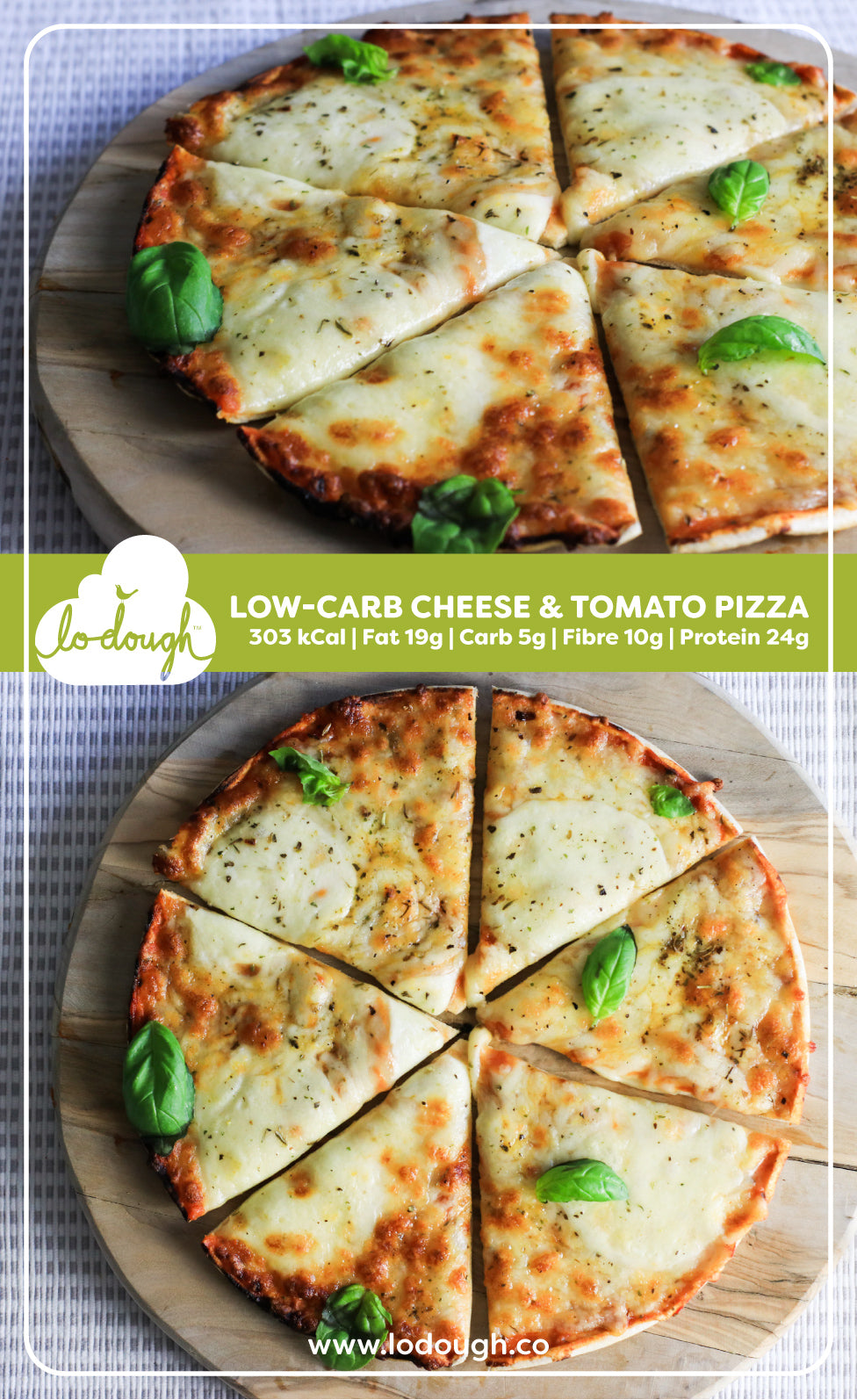 Low-Carb Cheese & Tomato Pizza