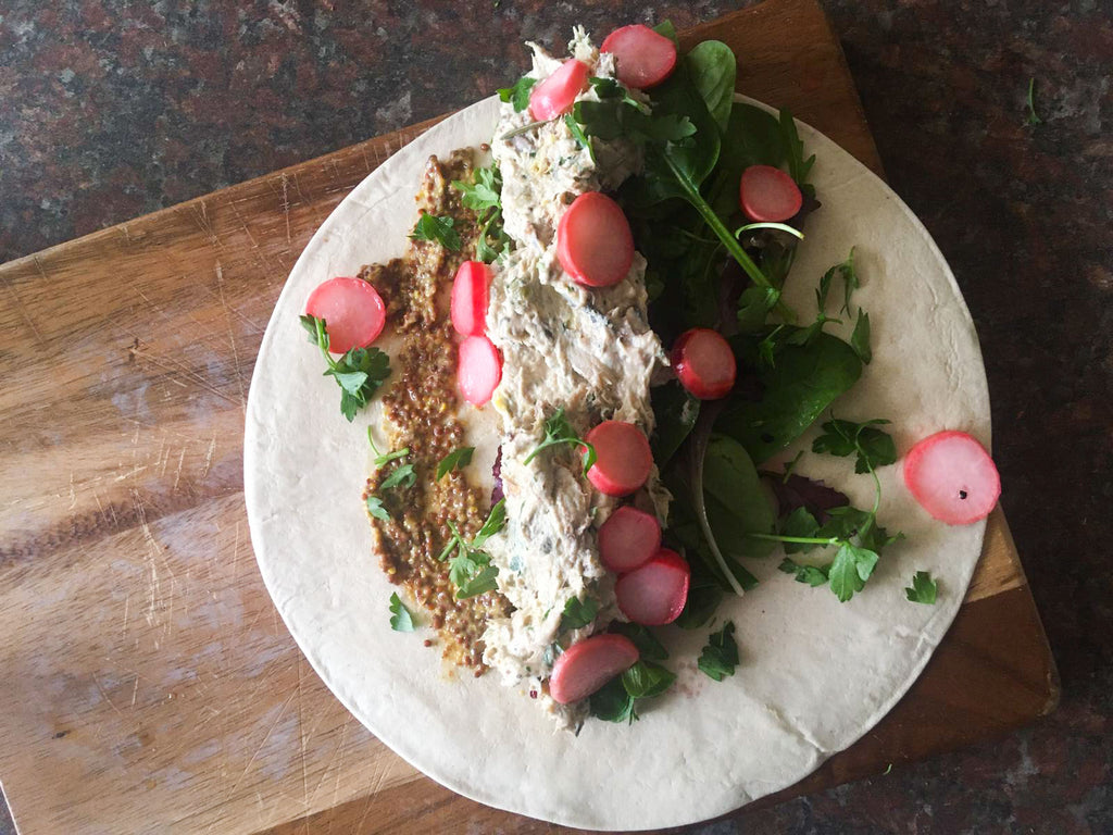 Low-Calorie salad wrap