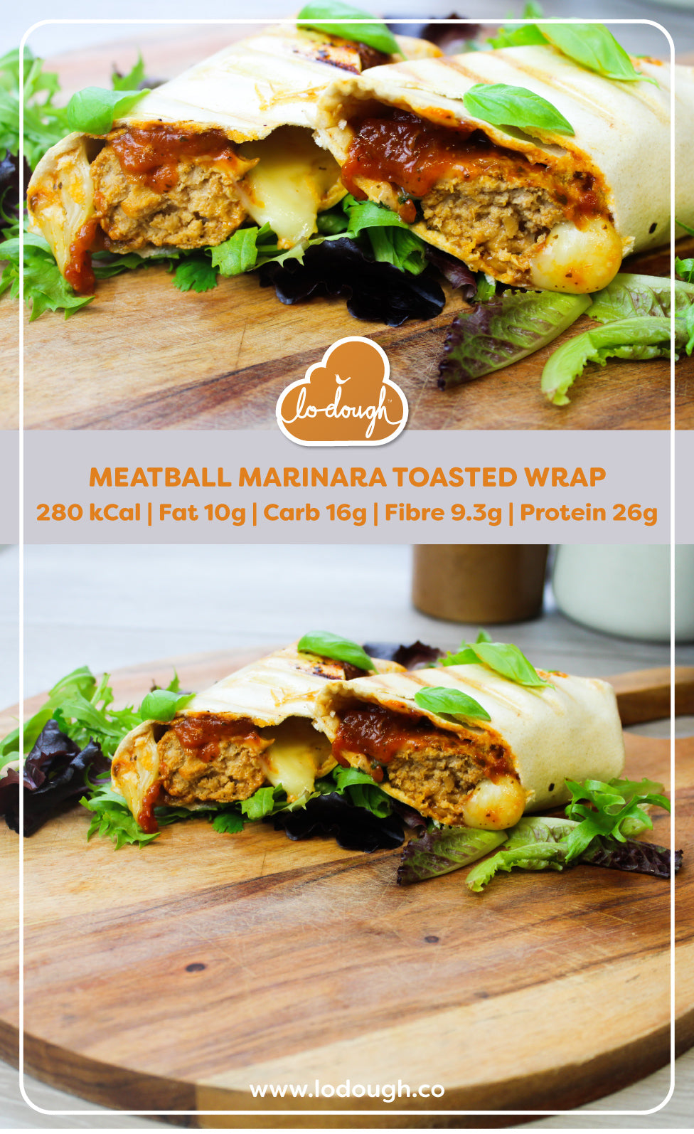 Meatball Marinara Toasted Wrap