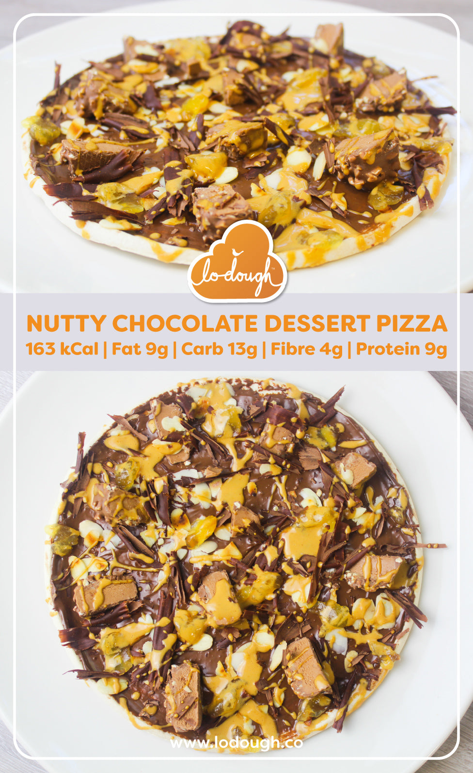 Chocolate and Nut Dessert Pizza