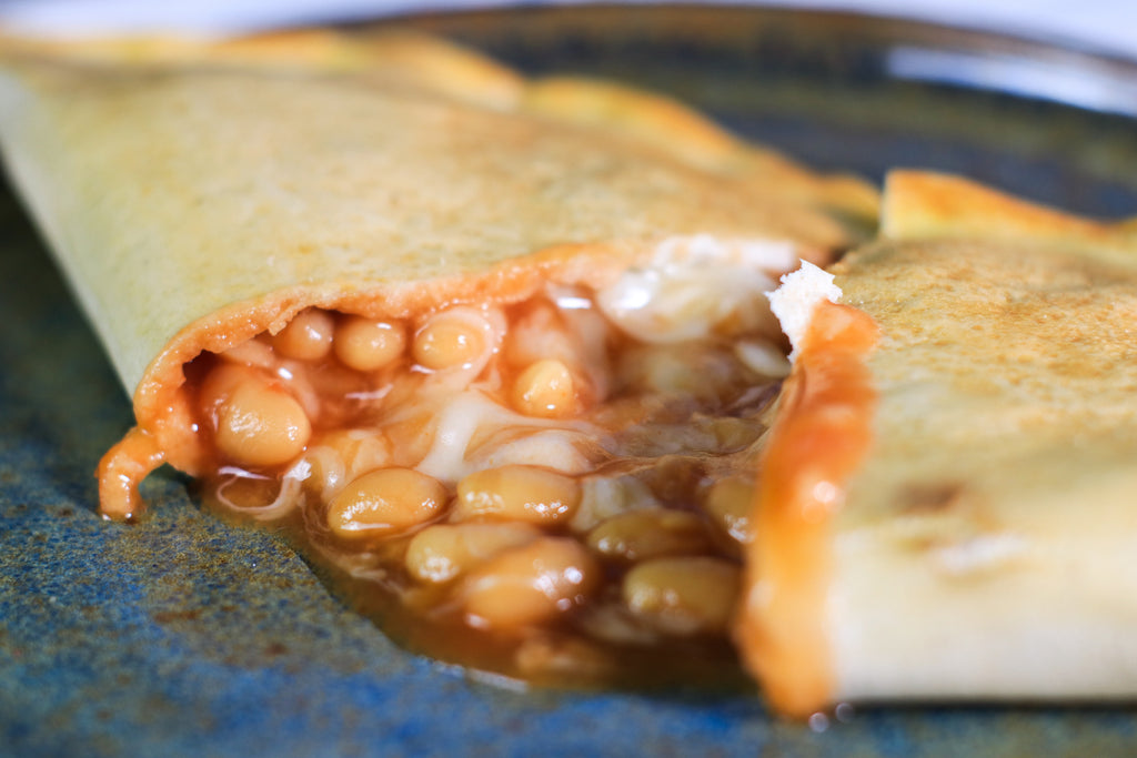 cheese and bean pasty