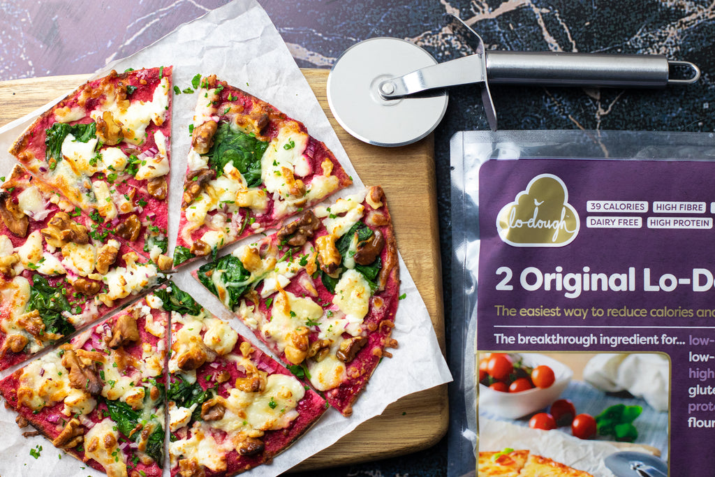 Low calorie vegetarian pizza