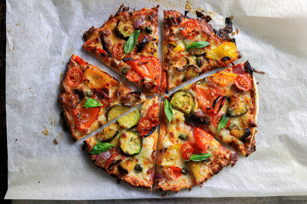 Spicy Roasted Veg Pizza
