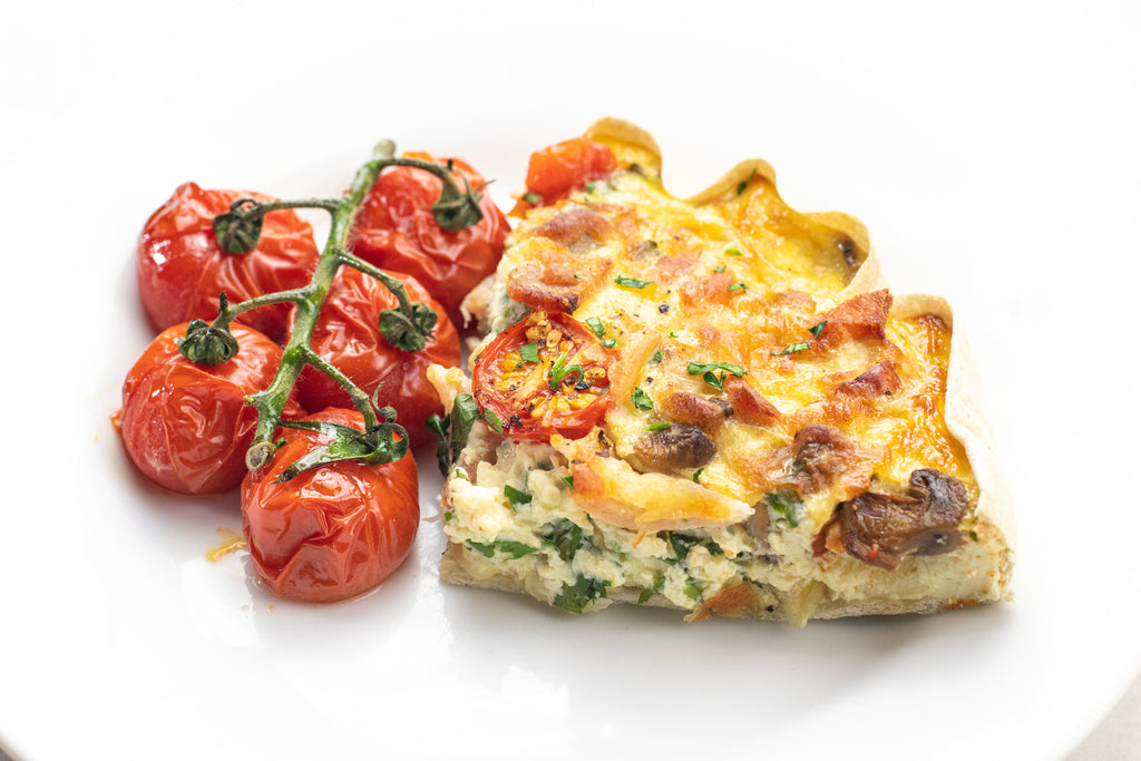 Low carb breakfast quiche