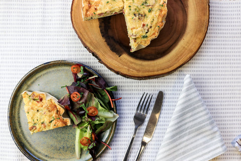 Leek, Bacon & Gouda Quiche
