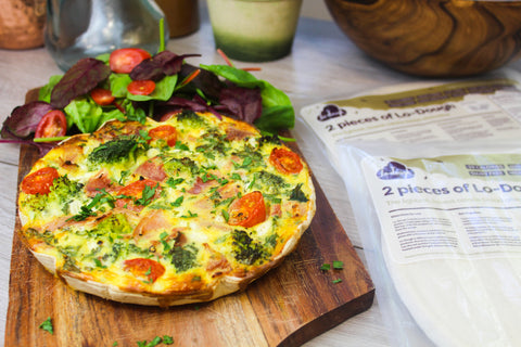 Ham & Broccoli Quiche lo dough bases