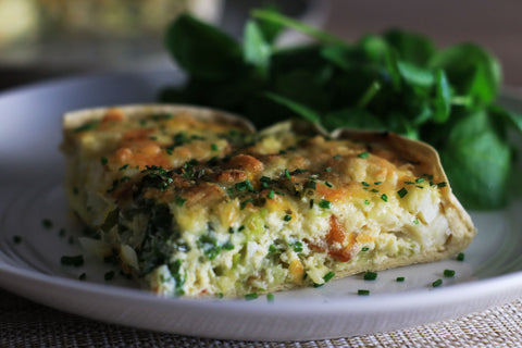Smoked Haddock & Leek Quiche low carb
