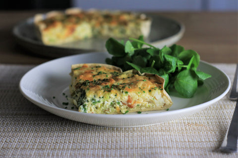 Smoked Haddock and Leek Quiche low carb