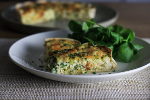 low carb Smoked Haddock and Leek Quiche
