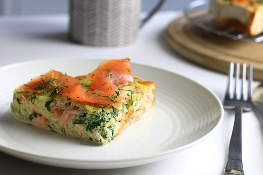 Keto quiche smoked salmon