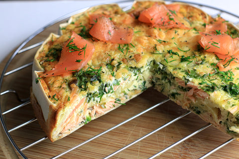 Low Carb Smoked Salmon Breakfast Quiche