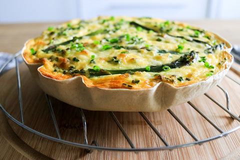 low carb Asparagus Quiche
